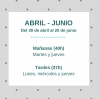 Intensivos: abril-junio